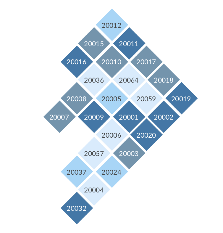 A Tile Grid Map of DC - Policy Viz Dc Zip Code Map on