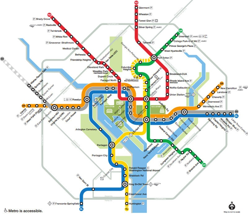 Washington, DC Metro map
